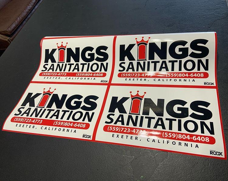 Kings Sanitation – High Quality Stickers