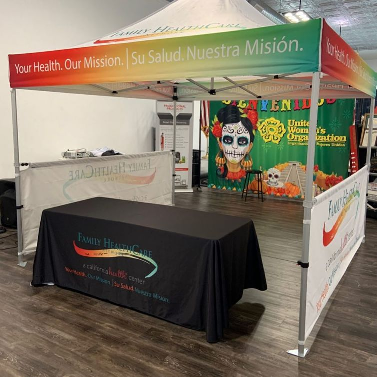 Family Health Care Network – Canopy, Table Covers, and Side bars
